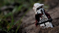 Wanderer (RagingPhotography) Tags: lego star wars clone trooper clonetrooper scout arc outside outdoors outdoor dirt dirty filthy filth sand sandy cloth custom customized fabric minifigure minifig figure dark gritty serious shade shady colorless ragingphotography