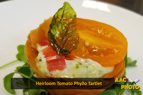 """Heirloom Tomato Phyllo Tart • <a style=""""font-size:0.8em;"""" href=""""http://www.flickr.com/photos/159796538@N03/40420502962/"""" target=""""_blank"""">View on Flickr</a>"""