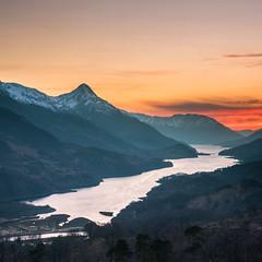 Loch Leven (graham.kirkham1) Tags: loch leven kinlochleven sunset snow hills water gloden hour trees pap glencoe forest