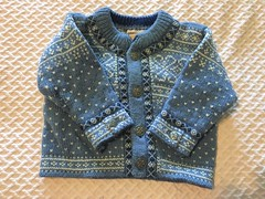 Baby Blue Sweater - Infants (vintage-13) Tags: baby infant kids childs toddler 2t boys girls forsale etsy sweater jumper blue pale white snowflake norway viking scandinavian daleofnorway designer pattern intricate christmas winter cold warm wool pure lyzzieetsycom