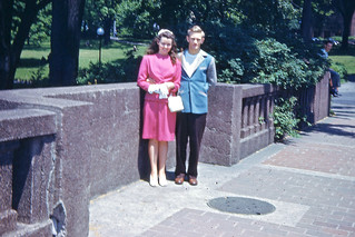 Young Couple at Niagara Falls Area Park, 1949s