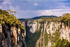 Canion Itaimbezinho - (Canyon) (andrebatz) Tags: canion itaimbezinho canyon cambara do sul rio grande rs cliff escarpas profundidade tempestade storm dark skies nuvens clounds rain chuva raios sol rays light araucárias brasil brazil south america landscape outdoor paisagem nikon d7100 sigma lens ngc