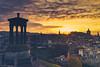 Edinburgh Sunset (der_peste) Tags: edinburgh sunset sundown clouds cloudporn sky skyscape cloudscape city scotland monument balmoral castle cityscape colors sonya7m2 sel35f14z zeiss sony