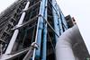 Post atomic view of Paris Pompidou (DgamesFlickr) Tags: paris parigi renzo piano architecture pompidou light industrial colorless color sky white europe travle