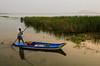 Gone fishin' (sakthi vinodhini) Tags: fishing chennai india incredible kolavai lake morning sunrise fisherman boat water people grass canoe shore tree sea cwc