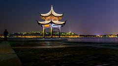 Jixianting, Westlake, Hangzhou China (Mark Chan Photography) Tags: nikon d800 china westlake hangzhou pavilion evening wideangle 2470vr
