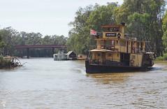 Emmylou (Kaptain Kobold) Tags: kaptainkobold murray river steamer riverboat steam paddlesteamer water echucal victoria australia flag boat emmylou