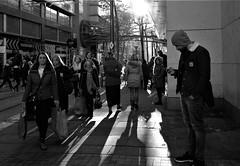 corporation street (LozHudson) Tags: fuji xt10 fujifilmxt10 mono monochrome blackwhite blackandwhite manchester lightshade shadows lightshadow street streetphotography