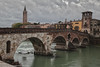 Ponte Pietra in Verona, Italy (Alaskan Dude) Tags: travel europe italy verona cityscape architecture buildings 5photosaday hdr pontepietra bridge river adigeriver