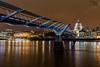 Millennium Bridge London (Craig Hollis) Tags: millennium bridge london thames river water night lights st pauls cathedral light painting city cityscape