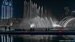 Dubai, United Arab Emirates: Fountains water show at the Burj Khalifa (nabobswims) Tags: ae burjkhalifa dubai fountain hdr highdynamicrange ilce6000 lightroom nabob nabobswims night nightfoto photomatix sel1018 sonya6000 unitedarabemirates