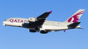 A7-APE Qatar Airways Airbus A380-861 (v1images Aviation Media) Tags: v1images aviation media group jason nicholls lhr egll london heathrow international airport uk united kingdom england eu europe takeoff take off departure blue sky 27l esso