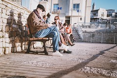 Banc de l'OM (Pierre-Luc Delage) Tags: marseille streetphotography provence mer sunset bancs benches