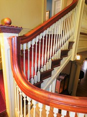 STAIRS WITH BANNISTER TO HOLD ON (Visual Images1 (Thanks for over 5 million views)) Tags: hsfs stairs saturdayforstairs robersonmansion binghamton