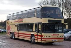 J1AOT  (SF56UAE)  Andrews, Tideswell (highlandreiver) Tags: j1aot j1 aot sf56uae sf56 uae andrews coaches tideswell neoplan skyliner bus coach sheffield wednesday brunton park carlisle cumbria