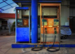 abandoned gas station (try...error) Tags: blue petrol decay car urbex urbanarte urban abandoned lost places lostplaces