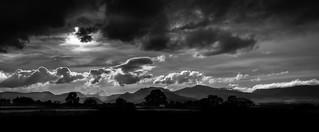 Lake District mountains bw