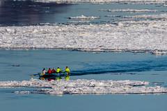 Ice Canoe (langdon10) Tags: canada canon70d ice quebec stlawrenceriver cold icecanoe outdoors seaice winter