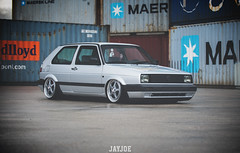 VW GOLF MK2 (JAYJOE.MEDIA) Tags: vw golf mk2 volkswagen low lower lowered lowlife stance stanced bagged airride static slammed wheelwhore fitment ozwheels ozmito