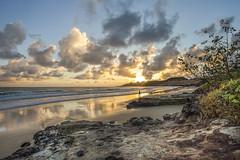 Sunrise in Camurupim Beach (rqserra) Tags: alvorecer amanhecer praia nuvens sol reflexos colorido mar sunrise dawn clouds beach sun reflexes colorfull rqserra brazil