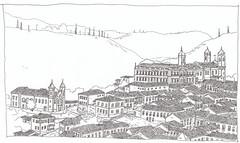 Brasil, Minas Gerais, Ouro Preto (pirlouit72) Tags: bresil brasil brazil minasgerais ouropreto sketch drawing dessin croquis urbansketch urbansketcher urbansketchers carnetdevoyage unesco