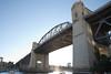 burrard bridge (n.a.) Tags: burrard bridge concrete steel vancouver bc canada inlet water sky