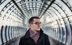 Michael Crestas - 1 (Sean Batten) Tags: london england unitedkingdom gb portrait michaelcrestas poplar nikon df 58mm tunnel person brenizermethod brenizerportrait