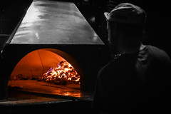 Coal-Fired Pizza Oven (tim.perdue) Tags: coal fired pizza oven natalies live music worthington columbus ohio pizzeria restaurant bar flame hot glow