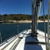 On a mooring in Pig Trough Bay (Figgles1) Tags: img7966 iphone yacht yachts sailboat sailboats pigtroughbay gardenisland