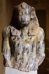 Upper part of a kneeling figure of King Sesostris I (Dave Hamster) Tags: neuesmuseum neues museum berlin germany museumisland kingsesostrisi kingsesostris king sesostris egypt 12thdynasty