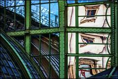 steampunk reflections (TheOtherPerspective78) Tags: schmetterlingshaus hofburg burggarten wien vienna imperial butterflyhouse 1900 jugendstil artnouveau glass window reflection mirror rivets verdigris city cityscape urban building architecture historic canon theotherperspective78 eosm6