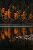 Bowman Fall X (steve rubin-writer) Tags: fall foliage reflection lake glacier park bowman