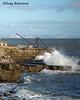 Red Crane (DougRobertson) Tags: portland portlandbill dorset redcrane sea seaside water waves quarry
