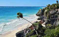 Shore 34 (orientalizing) Tags: archaeologicalsite caribbean coast desktop featured landscape mexico northamerica seascape tulum yucatan