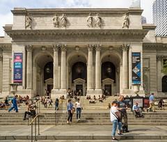 New York Public Library Main Branch. (Luis Pérez Contreras) Tags: bryantpark viaje eeuu usa trip 2017 olympus m43 mzuiko omd em1 manhattan nyc newyork nuevayork estadosunidos midtown newyorkpubliclibrary nypl