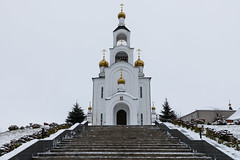 Cathedral of the Resurrection of Christ. (Oleg.A) Tags: autumn building winter church old outdoor rural evening persone snow countryside blue interior bell monastery orthodox dome architecture cross cathedral gold twilight cloudy catedral convent golden outdoors respublikamordoviya russia ru