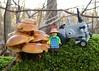 Lanz mit Pilzen (captain_joe) Tags: pilz fungi mushroom moos moss toy spielzeug 365toyproject lego minifigure minifig moc car auto trecker tractor lanz bulldog lanzbulldog series15 farmer