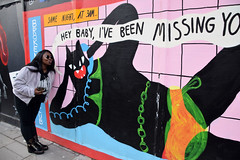 DSC_6112 London Shoreditch Great Eastern Street Artwork with Tina from Philadelphia Same Night at 3am Hey Baby I've Been Missing You (photographer695) Tags: shoreditch london great eastern street artwork with tina from philadelphia same night 3am hey baby ive been missing you