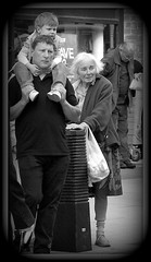In a better place? (* RICHARD M (7+ MILLION VIEWS)) Tags: street candid mono blackandwhite sad sadness poor old aged senior oap oldlady oldwoman german oldgermanlady poverty povertystricken hungry tired wornout streetlife verbalhistory weary 21stcentury shameful vulnerable southport sefton merseyside england unitedkingdom uk greatbritain britain britishisles ww2 immigrant hardtimes needy exhausted moving heartrending lonely forlorn alone invisible shunned deprivation invisiblewoman heartbreaking
