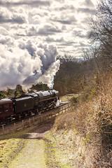 WSR_2010_03_21_098 (Phil_the_photter) Tags: steam steamengine steamloco steamrailway steamgala wsr westsomersetrailway 8p 71000 dukeofgloucester kentsfordfarm