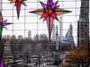 looking out at Columbus Circle from Time Warner Center at Christmastime (Web-Betty) Tags: nyc newyorkcity newyork bigapple city urban unitedstates timewarnercenter columbuscircle holiday window