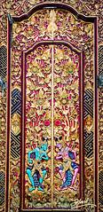 A Door Carving at a Bali Temple