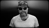 Big Poser. . Selfie. . (CWhatPhotos) Tags: self photographs photograph pics pictures pic picture image images foto fotos photography cwhatphotos that have which with contain mk digital camera lens micro four thirds em5 ii me man male portrait selfee selfie mine face dark shadow light studio lights shadows pose pork pie hats hat sun glasses shades round steam punk poser big tash moustache moustashe emotional dramatic leather