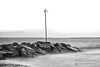 GROYNE AT LEE (mark_rutley) Tags: coast hampshire leebigblocker leeonsolent leeonthesolent sea solent groynes groyne blackandwhite