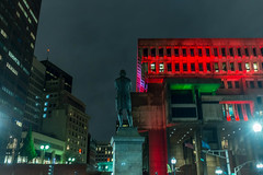 Sam Adams and City Hall (Bingo3362) Tags: faneuilhall govcenter greenline orangeline statest boston statue samadams