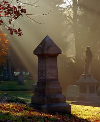 """Cincinnati – Spring Grove Cemetery & Arboretum """"Morning Light On Monuments"""" (David Paul Ohmer) Tags: ohio cincinnati spring grove cemetery arboretum springgrovecemetery gravesites burial grounds death spirit soul deceased graveyard conservatory victorian gothic revival national historic landmark adolph strauch cemetary morning light rays monuments"""