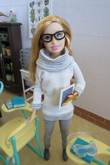 3. Anna (Foxy Belle) Tags: skipper doll babysitter inc baby sitter 2018 new mold handmade clothing knits leggings blonde freckles glasses classroom school science biology diorama dollhouse 16 scale playscale miniature