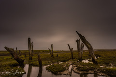 Ancient Posts (JDS-photo) Tags: thornham northnorfolk dull rain winter 10stop sky longexposure landscape landscapephotography sea lightroom canoneos6d canonef1740mmf4lusm