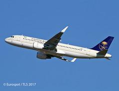 F-WWBV A320 Saudia (@Eurospot) Tags: toulouse blagnac fwwbv airbus a320 saudia hzas61
