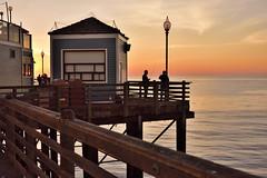 Fisherman's Pier (Zara Calista) Tags: fishermans pier california ca 50mm sigma f14 ocean west fishing evening nikon coast coastal san diego
